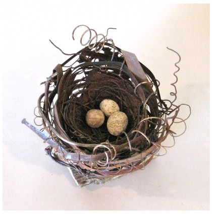 """Bird's Nest""<br />2013<br />Found materials"
