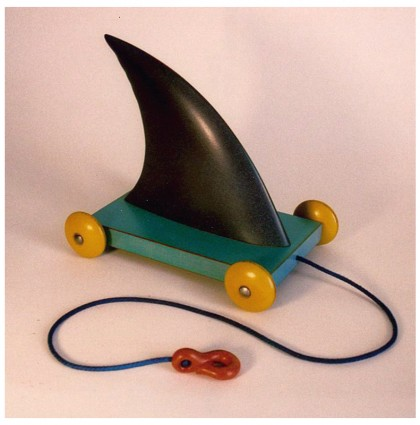 &#8220;Shark Fin Pull Toy&#8221;<br />2003<br /> Polychrome wood