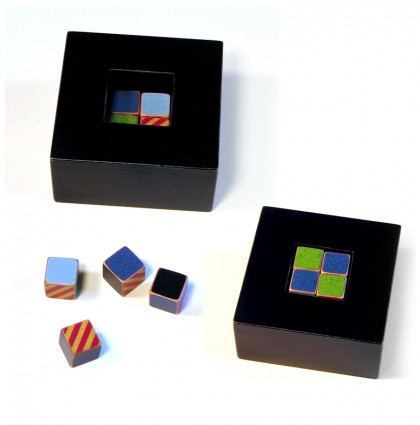 &#8220;Eight Blocks in a Box&#8221;<br />2007<br />Polychrome Wood