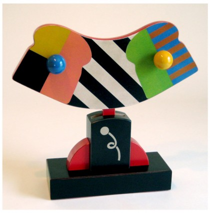&#8220;Clown Bread&#8221;<br />2008<br />Polychrome Wood