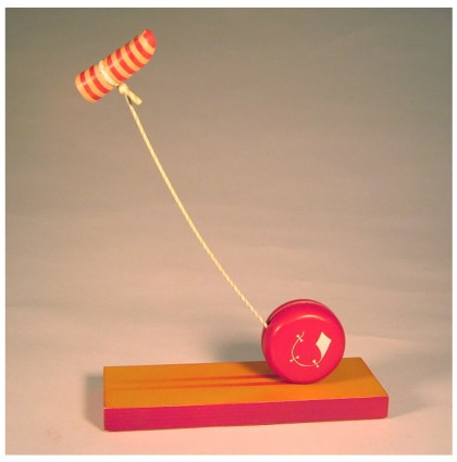 &#8220;Yoyo&#8217;s Little Kite&#8221;<br />2006<br />Polychrome Wood