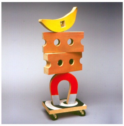 &#8220;Mobile Monument to Permanence &#038; Nature&#8221;<br />2002<br />Polychrome Wood
