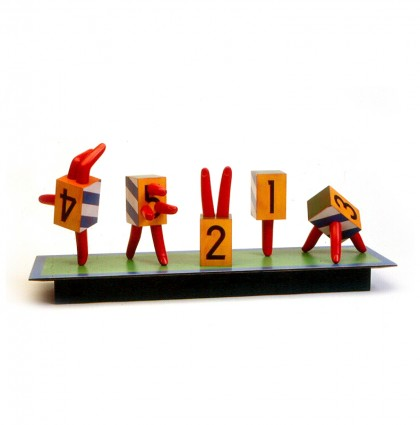 &#8220;Outboxed Finger Puppets&#8221;<br />2003<br />Polychrome Wood