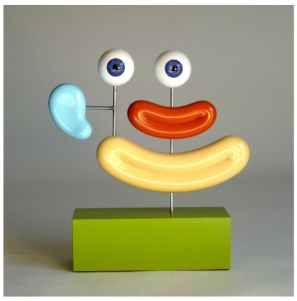 """Mr. Traffic""<br />2009<br />Polychrome Wood"